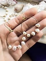 Náušnice - Náušnice z pravých bielych pacifických perál - 10406209_