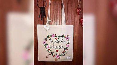 Nákupné tašky - ♥ Plátená, ručne maľovaná taška ♥ (MI6) - 10407571_