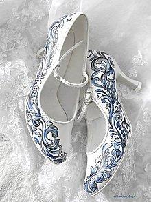 Obuv - svadobné topánky - 10406972_