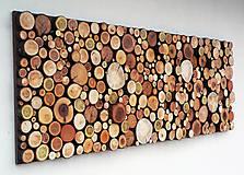 Dekorácie - Závesný drevený obraz - 10409724_
