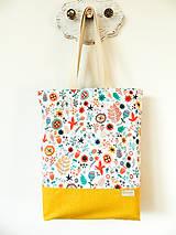Nákupné tašky - taška folk lúčka - 10406445_