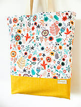 Nákupné tašky - taška folk lúčka - 10406446_