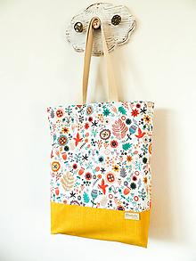 Nákupné tašky - taška folk lúčka - 10406444_