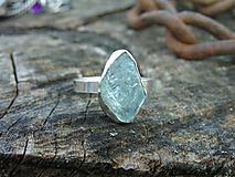 Prstene - Strieborny prsteň Ag925 Akvamarín - 10407125_