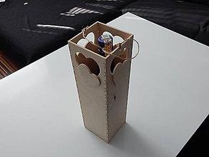 Dekorácie - Darčekový obal taška na víno/ fľašu alkoholu 2 - 10407035_