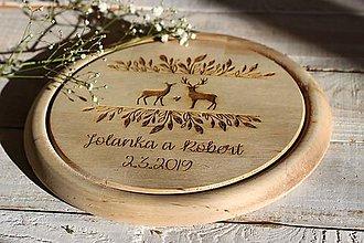 Pomôcky - Drevené denko - jelene - 10408159_