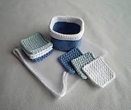 Úžitkový textil - Kozmetické tampóny sada - štvorec (Modrá) - 10407601_