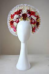 Ozdoby do vlasov - Romantická (ne)tradičná svadobná parta - 10407682_