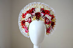 Ozdoby do vlasov - Romantická (ne)tradičná svadobná parta - 10407683_