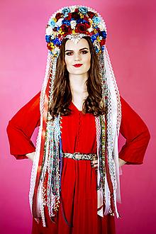 Ozdoby do vlasov - Folklórna (ne)tradičná svadobná parta - 10408428_
