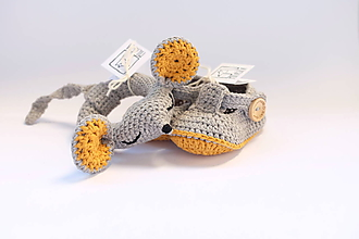 Hračky - myška-hrkálka (farba podľa výberu) - 10406602_
