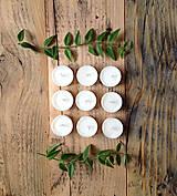 Svietidlá a sviečky - Čajové sviečky - Zero Waste - 10407230_