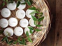 Svietidlá a sviečky - Čajové sviečky - Zero Waste - 10407236_