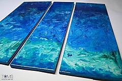 Obrazy - Trojdielny živicový obraz (veľký) - 10410034_