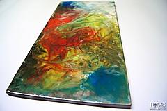 Obrazy - Farebný živicový obraz - 10410092_