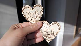 Darčeky pre svadobčanov - Svadobné magnetky - 10407130_