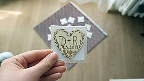 Darčeky pre svadobčanov - Svadobné magnetky - 10407131_