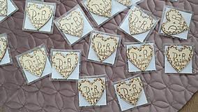 Darčeky pre svadobčanov - Svadobné magnetky - 10407137_