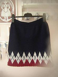 Sukne - Zimná sukňa - norský vzor 2 - 10407491_
