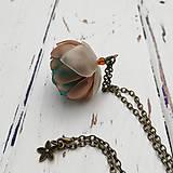 Náhrdelníky - Listopadka petrolej- náhrdelník z PET - 10406061_