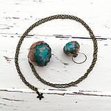 Náhrdelníky - Listopadka petrolej- náhrdelník z PET - 10406062_