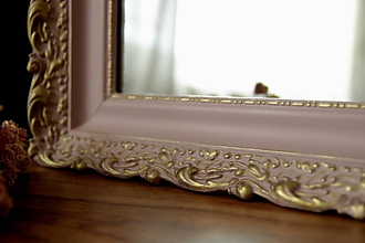 Zrkadlá - Zrkadlo v púdrovo ružovom ráme - 10410189_