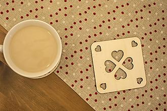 Pomôcky - Drevená podšálka – Valentín 7 - 10408945_