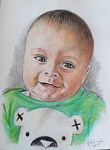 Kresby - bábätko :-)-farebne na A4 - 10406601_