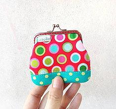 Peňaženky - Peňaženka mini Farebné bodky - 10406152_