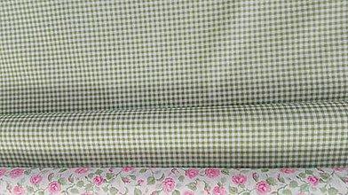 Textil - Kocka bielo-zelená š.150cm - 10406501_
