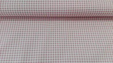 Textil - Staroružovo-biela kocka š.150cm - 10407201_