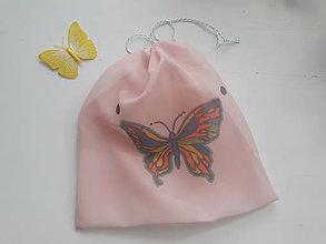 Nákupné tašky - Eko vrecko na ovocie veľké *Motýľ* - 10406311_