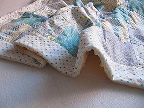 Textil - farebný svet... (cca 65 x 100 cm - Tyrkysová) - 10408280_