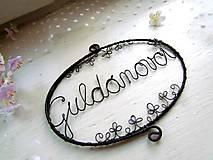 Tabuľky - ceduľka s ornamentom (s 2 ornamentmi) - 10408823_