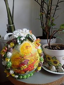 Dekorácie - Vajce kuriatka - 10406851_