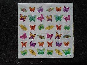 Papier - motýliky - 10407690_