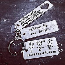 Kľúčenky - ľúbime Ťa ako koňa :) - 10411951_