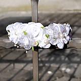 Ozdoby do vlasov - Bohatá snehobiela čelenka na prvé prijímanie, svadbu - 10412191_