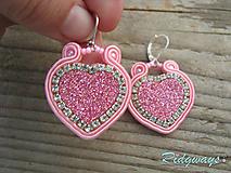 Náušnice - Valentínska kolekcia...soutache - 10412712_
