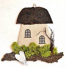 Dekorácie - Dekoračný domček-Hríbik - 10411901_