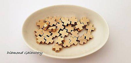 Korálky - Korálka drevená - krížik - 10411820_