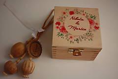 Prstene - Svadobná krabička na prstene - 10413771_