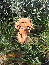 Dekorácie - Iónsky antický stĺp -- svietnik, keramika - 10410694_