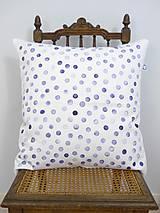 Úžitkový textil - INDIGO akvarelová obliečka - Kvapky - 10412842_
