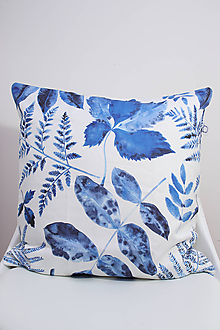 Úžitkový textil - Akvarelová obliečka - Blue Jungle II. - 10412741_