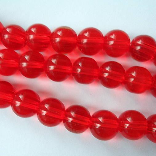 Sklenené 10mm-červená-1ks