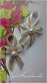 svadobné pierko rustikál - jutové
