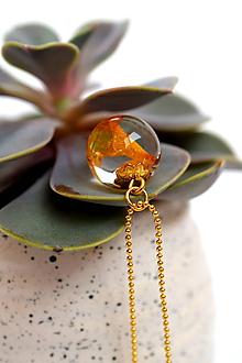 Náhrdelníky - Náhrdelník Orchidea v guličke (2562 A CHO) - 10413545_