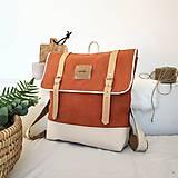 Batohy - Aktovkový batoh Olivia (oranžovo-béžový) - 10410834_