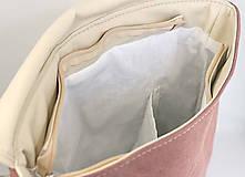 Batohy - Aktovkový batoh Olivia (oranžovo-béžový) - 10410861_